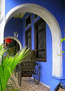 the Blue House in Georgetown, Penang Island