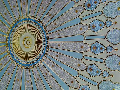 ceiling in the Islamic Arts Museum in Kuala Lumpur