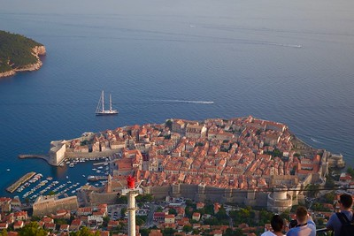 Dubrovnik from the cable car landing