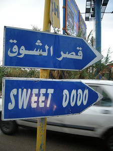 "pointing the way to a Chinese restaurant - shouldn't it be ""Sweet and Sour Dodo""?"