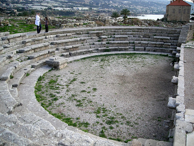tiny amphitheatre at the Byblos archeological site