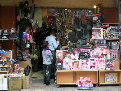 toy store - and (toy) guns at a shop in Sidon