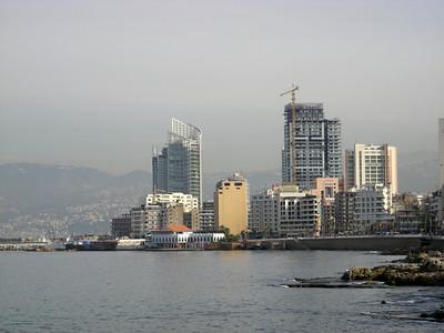 along Beirut's corniche