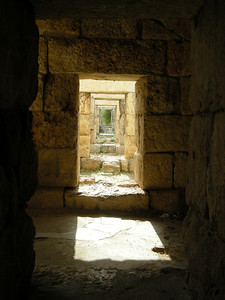 below the hippodrome spectator seating at Tyre