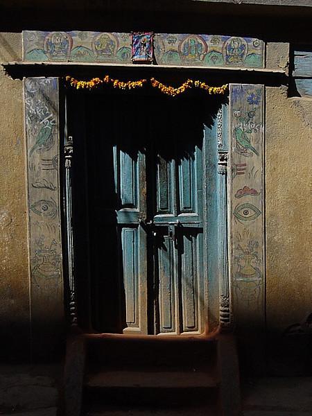 a door in Kathmandu
