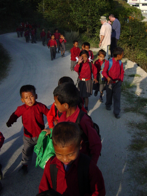 schools kids in Nagarkot