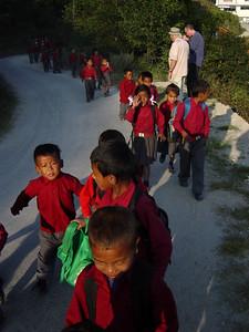 schools kids in Nagarkot
