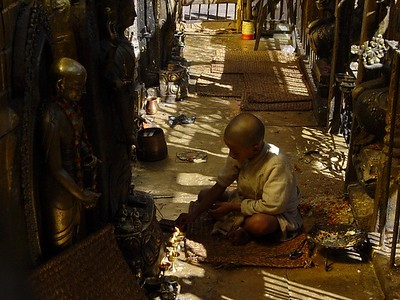 boy in the golden temple