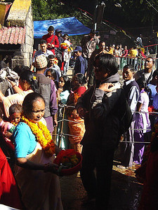 at the Kali Temple, Kathmandu Valley