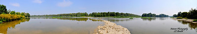 Panarama of Weirs Rapids, Maumee River near Grand Rapids