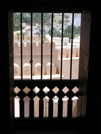 window in Nakhal Fort