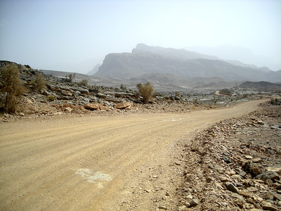 on the road to Jabal Shams