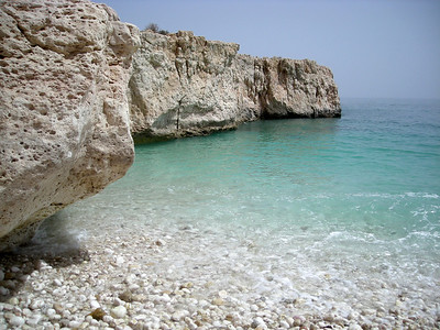 White Beach on the Indian Ocean,