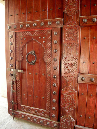 door within the fortress gate, Nizwa