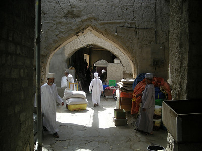 entering the souq in Nizwa