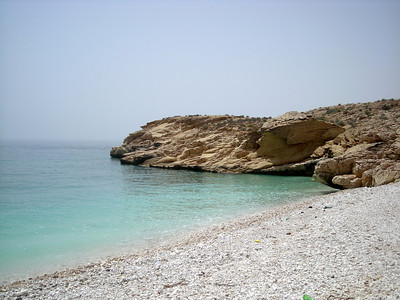 at White Beach, Oman