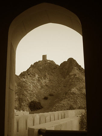 a view from the Muscat Gate