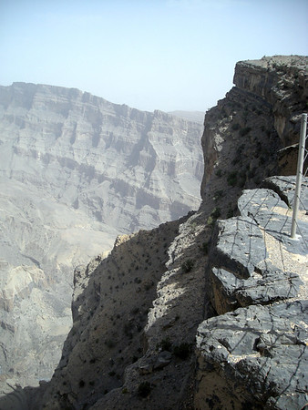 cliff view over Wadi Ghul canyon