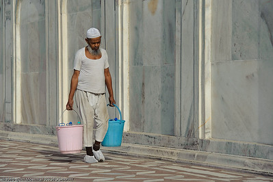Carrying water at the Taj Mahal, Agra