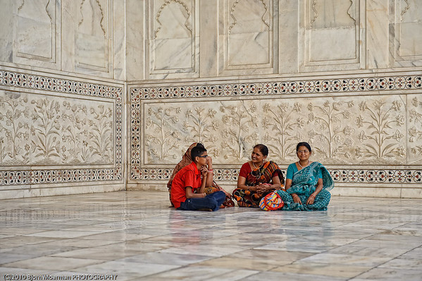 Indian family at Taj Mahal, Agra
