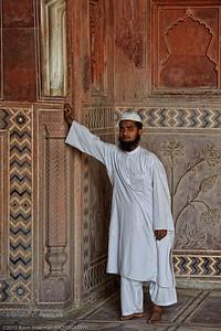 Posing at the Mosque, Taj Mahal, Agra