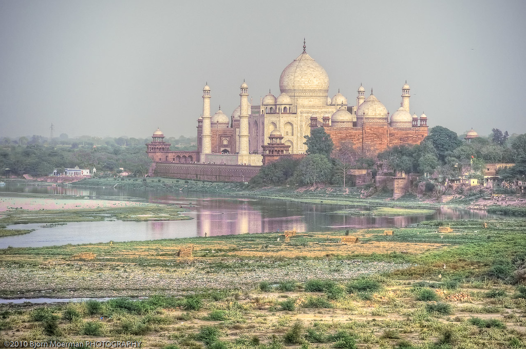 Taj Mahal view from the Agra Fort - Red Fort