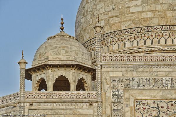 Close-up of the Taj Mahal, Agra