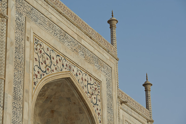 Close-up of the Taj Mahal, Agra