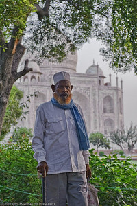Indian man at Taj Mahal, Agra