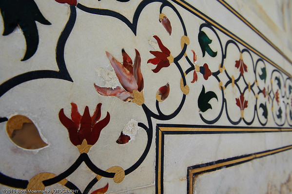 Decoration at Taj Mahal, Agra