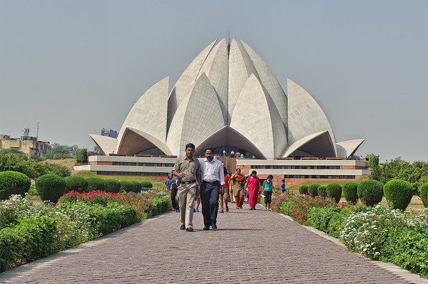 Baha'i House of Worship -Lotus templen, South of Delhi