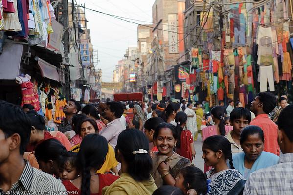 Busy Main Bazaar road, Delhi