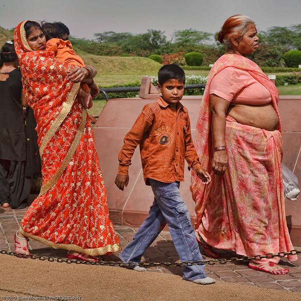 3 Generations Indian family at Baha'i House of Worship -Lotus templen, South of Delhi