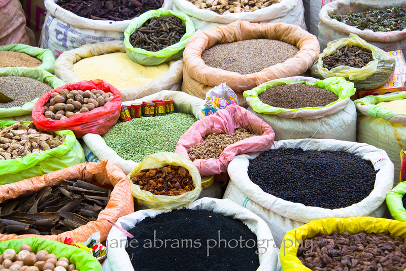 spices at the local market