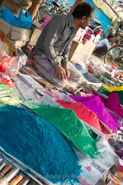 colored powder of celebrating Holi