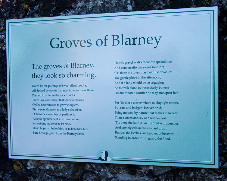 Like a typical tourist, I took pictures of most of the signage!<br /> Blarney Castle<br /> December 2010