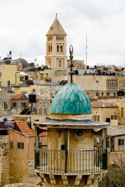 View from the Austrian Hospice in the Muslim Quarter of the Old City, Jerusalem