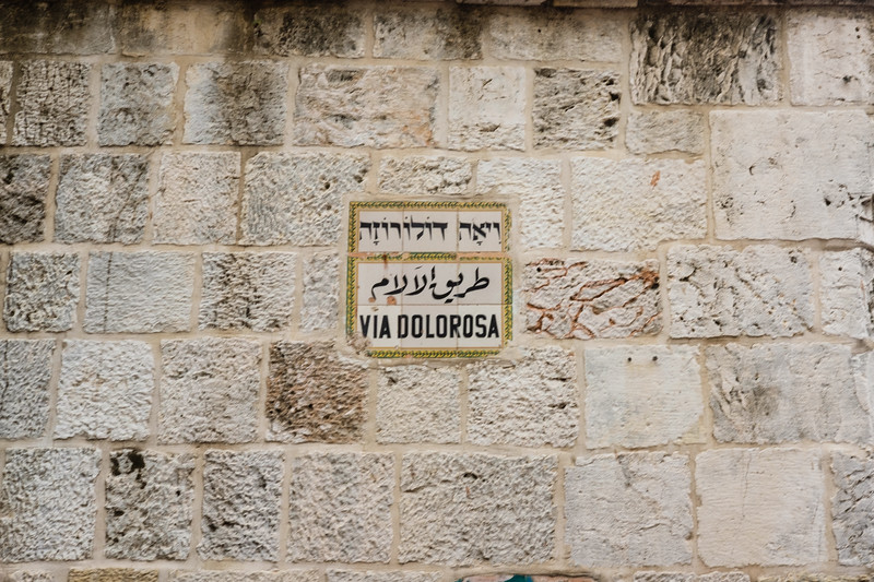 On Via Dolorosa in the Muslim Quarter of the Old City, Jerusalem