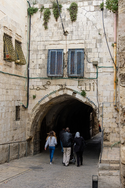 At Lions' Gate in the Muslim Quarter of the Old City, Jerusalem