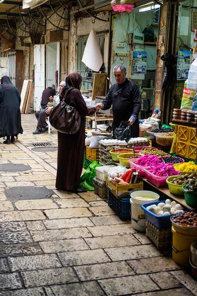 In the Arab souk (market), Christian and Muslim Quarters, in Jerusalem's Old City