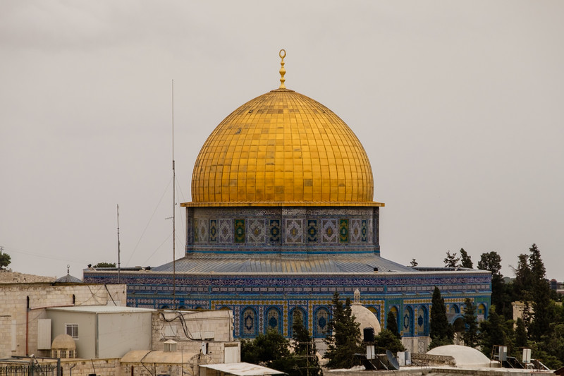 The Dome of the Rock from the Austrian Hospice in the Muslim Quarter of the Old City, Jerusalem
