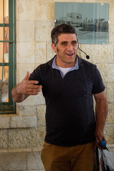 Preservation architect Moshe Shapiro<br /> at the Old Jerusalem railway station