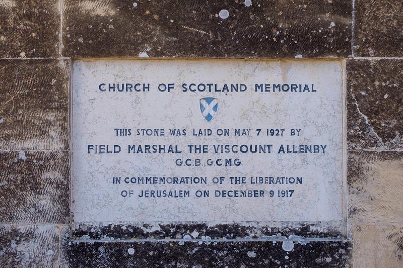 St Andrew's Scots Memorial Church (C. Holliday, 1927), Jerusalem