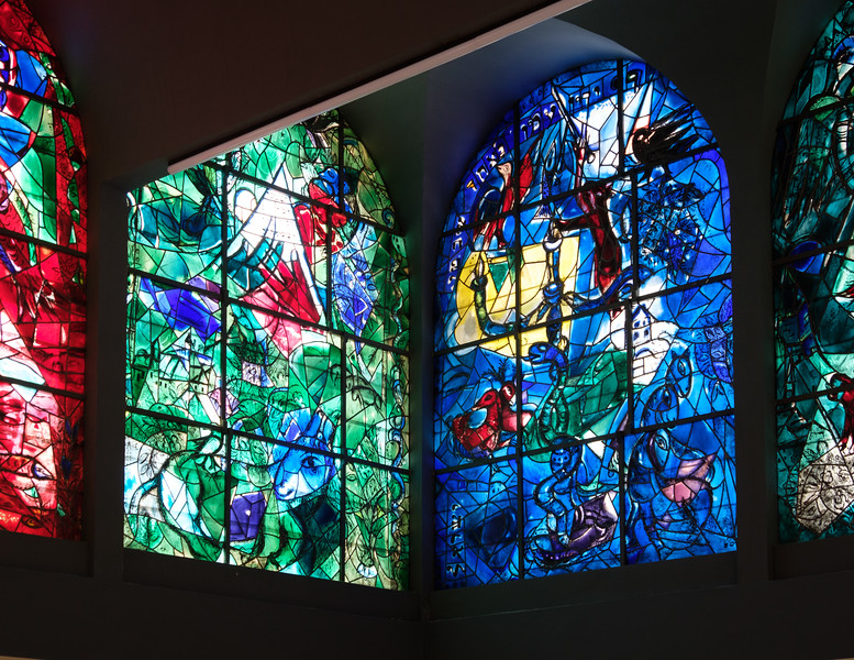 Issachar and Dan. The Chagall windows at the Hadassah Hospital synagogue, Ein Kerem, Jerusalem