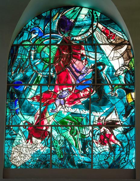 Gad. The Chagall windows at the Hadassah Hospital synagogue, Ein Kerem, Jerusalem