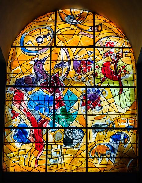 Joseph. The Chagall windows at the Hadassah Hospital synagogue, Ein Kerem, Jerusalem