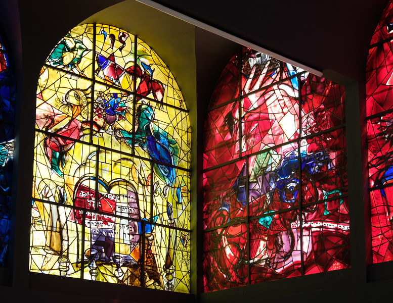 Levi and Judah. The Chagall windows at the Hadassah Hospital synagogue, Ein Kerem, Jerusalem