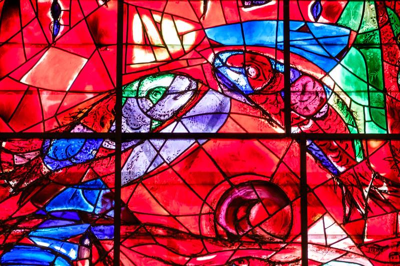 Zebulun. The Chagall windows at the Hadassah Hospital synagogue, Ein Kerem, Jerusalem