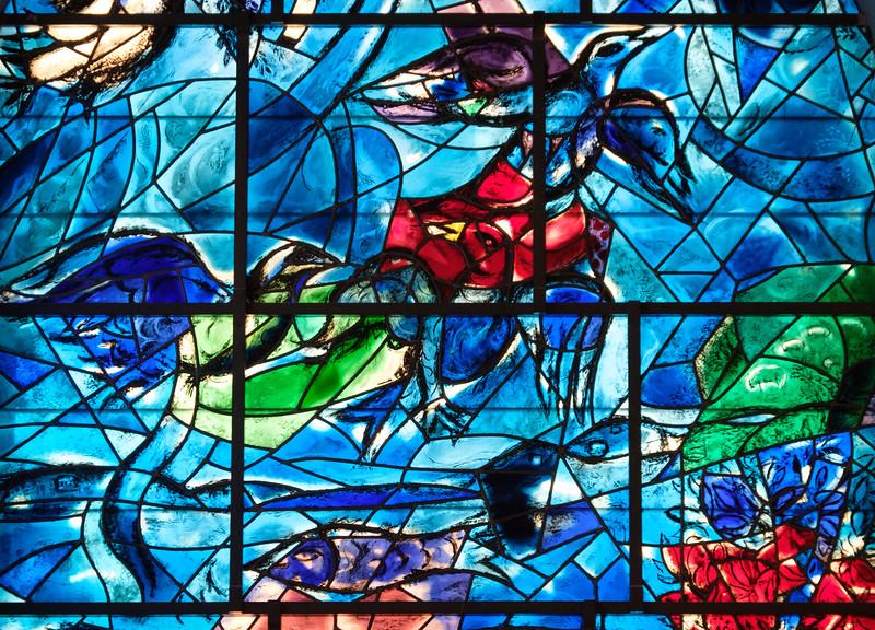 Reuben.  The Chagall windows at the Hadassah Hospital synagogue, Ein Kerem, Jerusalem