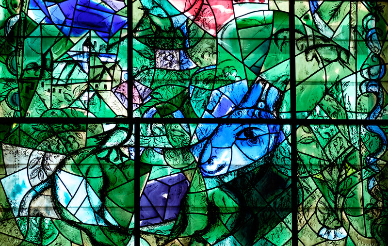 Issachar. The Chagall windows at the Hadassah Hospital synagogue, Ein Kerem, Jerusalem